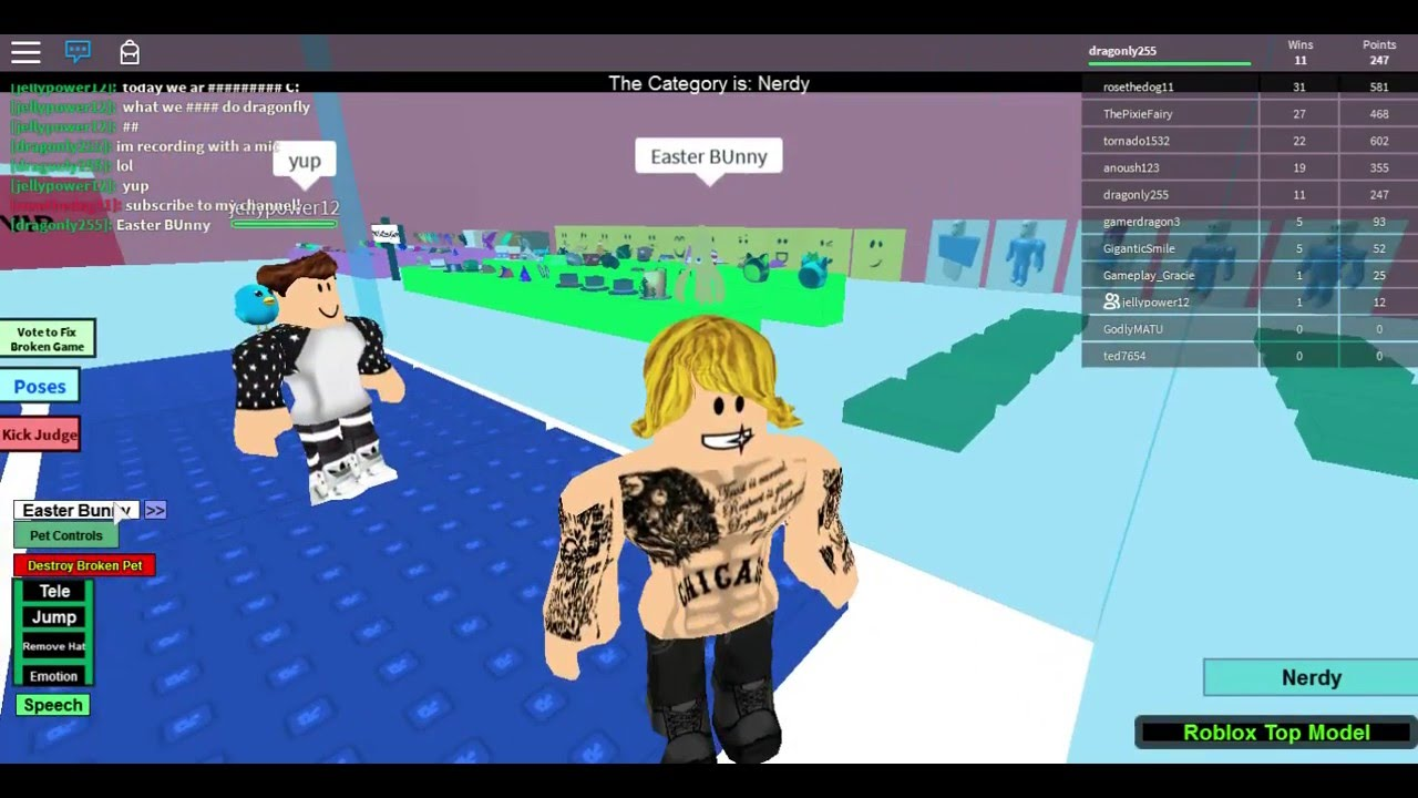 roblox top model do i have too many tattoos   who will win