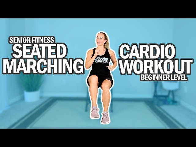 Seated Cardio Marching Workout For Seniors And Beginners | 18Min