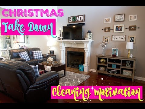 Christmas TAKE DOWN/Extreme Cleaning Motivation//Clean With Me after Christmas