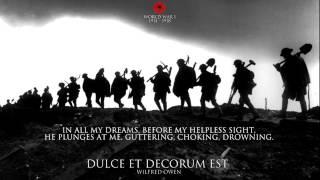 Dulce et Decorum Est by Wilfred Owen - World War I Poem
