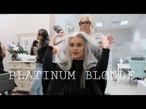 DYING MY HAIR PLATINUM BLONDE  HOLLYANNA LAND