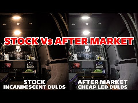 Cheap Led Dome Lights Vs Stock for Ford Transit Connect