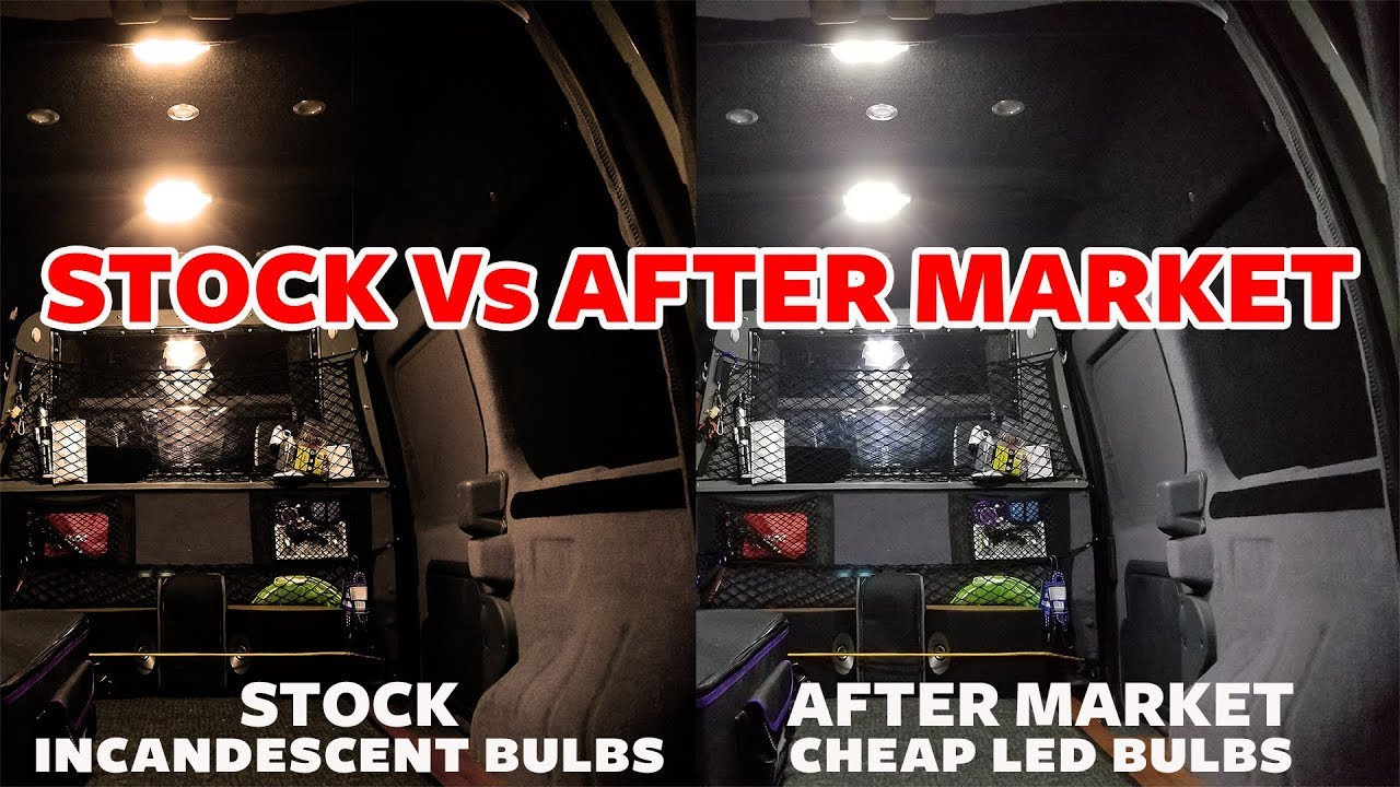 Cheap Led Dome Lights Vs Stock for Ford Transit Connect on