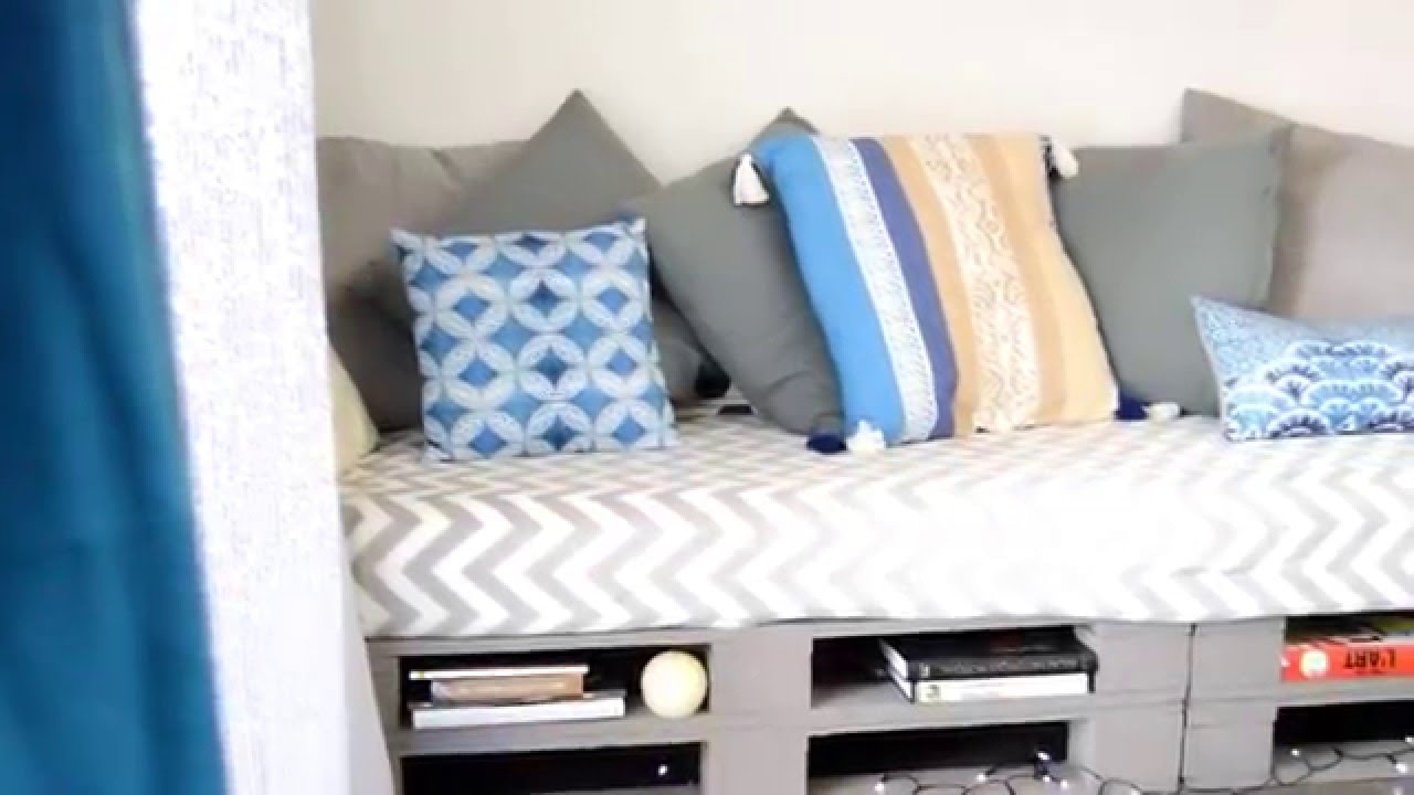 diy un canap en palettes youtube. Black Bedroom Furniture Sets. Home Design Ideas