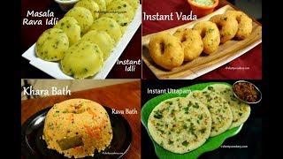4 easy rava breakfast recipes  instant breakfast recipes   quick and easy Indian breakfast recipes