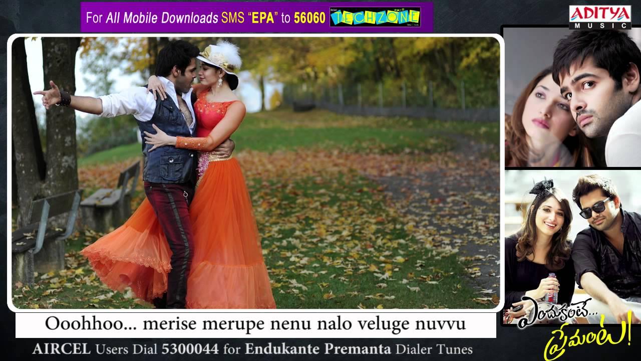 Yegiri Pove Song Lyrics From Endukante Premanta