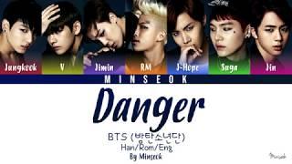 BTS (방탄소년단) - Danger (Color Coded/Han/Rom/Eng Lyrics)
