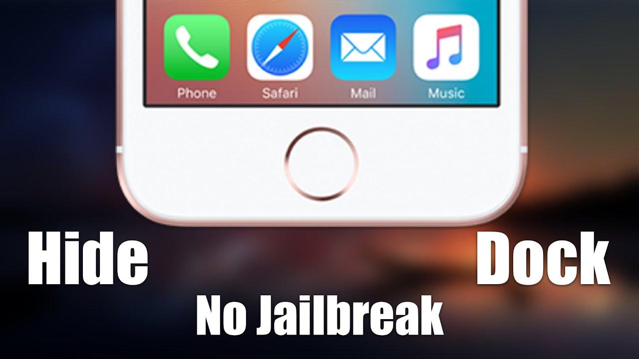 Wallpaper iphone hide dock -  Ios 9 3 1 How To Get Transparent Dock Folder Effect No Jailbreak Youtube