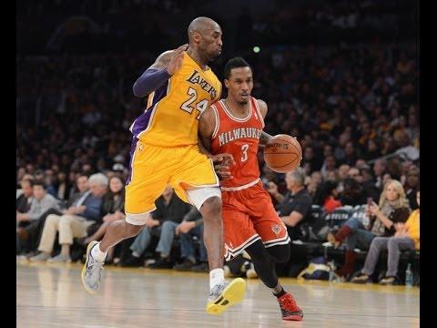 22ac208a992 Kobe Bryant Defense vs. Brandon Jennings and Milwaukee Bucks - YouTube