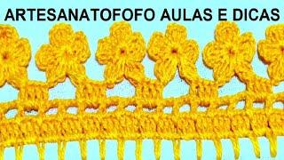 Bico em Crochê Flores – Crochê 105
