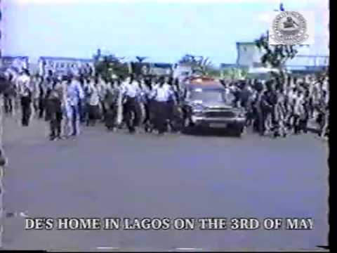 Procession from National Theatre Iganmu to Chief Ogunde's home in Lagos