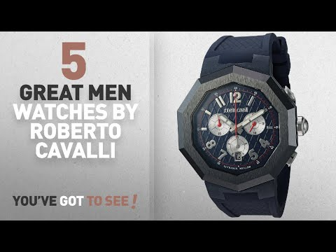Top 10 Roberto Cavalli Men Watches [ Winter 2018 ]: Roberto Cavalli By Franck Muller Men's 'OCTAGON'