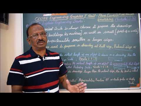 Explain Engineering Scale M1.32 - Engineering Graphics in Tamil