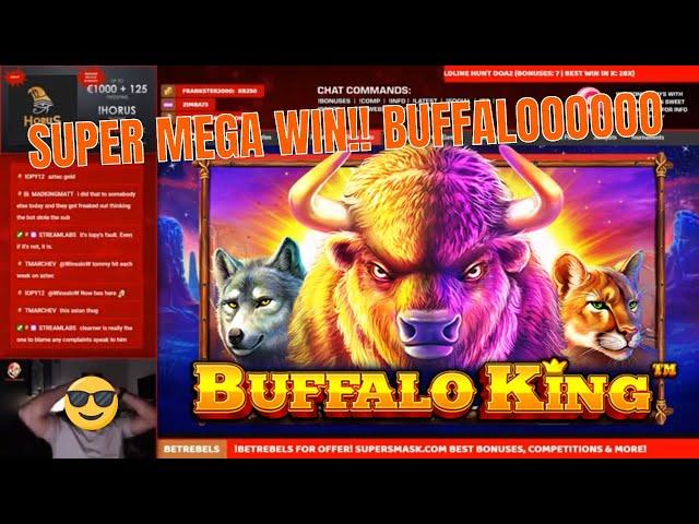 SUPER Win on Buffalo King!! Best win on Pragmatic!