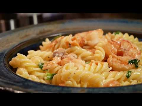 Smoke Salmon And King Prawn Pasta