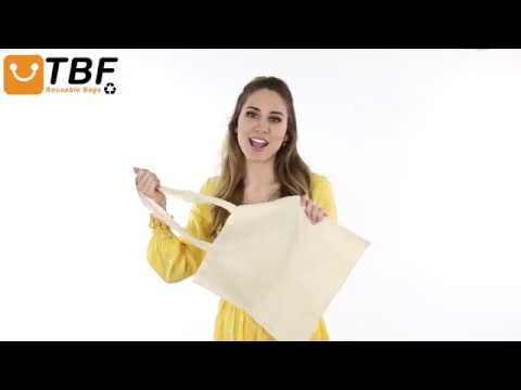 Product Video - TOB293 - Economical 100% Cotton Reusable Wholesale Tote Bags b627bdba86a16