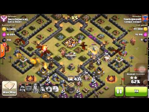 Dragon rage war attack - 3 staring with Max Dragons - Clash of Clans