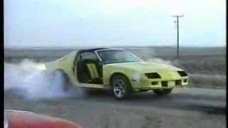 Crazy Camaro and Pontiac Burnouts and donuts!!
