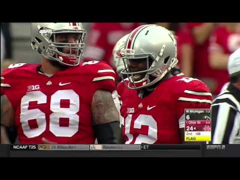 #1 Ohio State vs Western Michigan 2015 Just The Plays