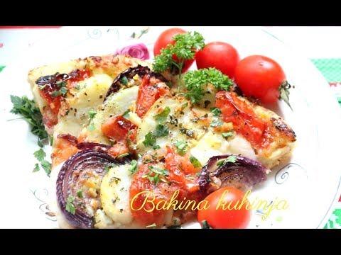 Bakina kuhinja - pica sa krompirom odličan posni obrok