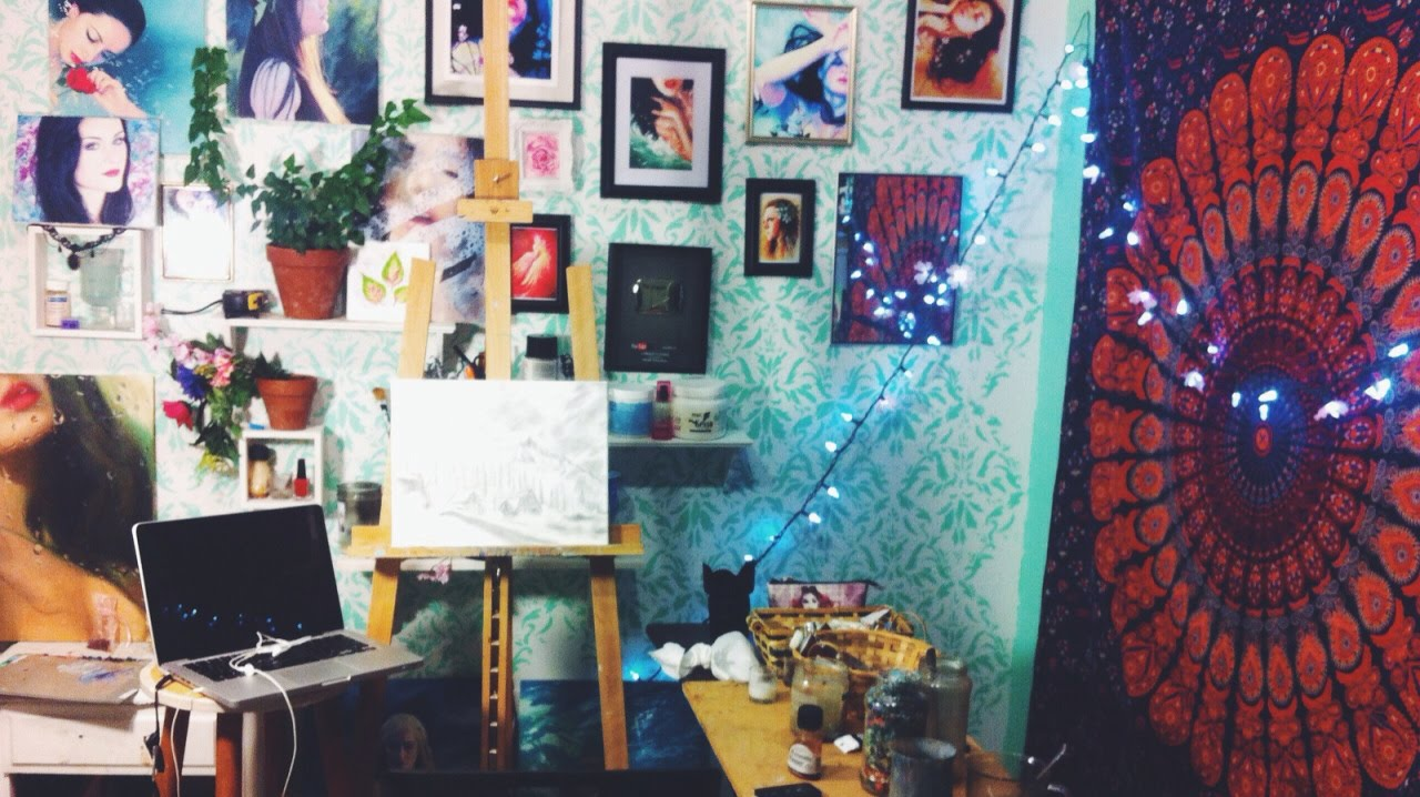 Art Studio Tour My Workspace Youtube