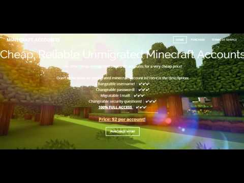 100% full access unmigrated Minecraft Accounts $2 each! - YouTube