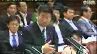 2011.05.13 参院予算委員会 衛藤晟一(自由民主党) 青山繁晴氏 参考人証言