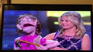 Darci Lynne and Edna and Rowif The Dog- Serenade Simon Cowell- American Got Talent The Champions