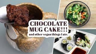 Chocolate Mug Cake And Other Things Vegan Things I Ate | Wiaw