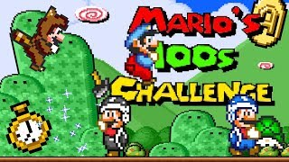 Mario's 100s Challenge (1of2) • Super Mario World ROM Hack