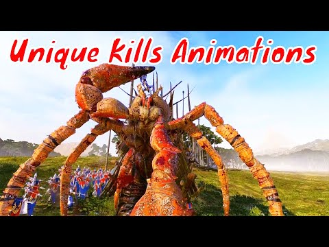 Another 10 Unique Kills Animations. Total War Warhammer 2 Cinematic machinima |