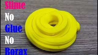 NO GLUE, NO BORAX Slime Recipe!Easy Slime with Only 2 Ingredients