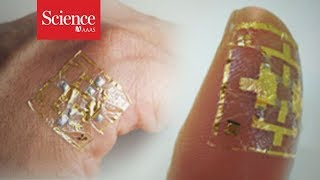 Watch this wearable electronic skin control virtual objects