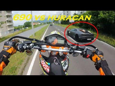 690 VS HURACAN - How to overtake a Lamborghini