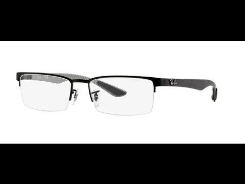 f7b37de0d2 Ray Ban RX8412 Eyeglasses 2503 MATTE BLACK - YouTube