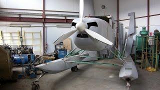 Самодельный самолет,  двигатель  v12 от BMW    (Белгород)(весь фото-отчет по самолету начиная с изготовления стапеля тут ..., 2016-04-12T15:26:11.000Z)