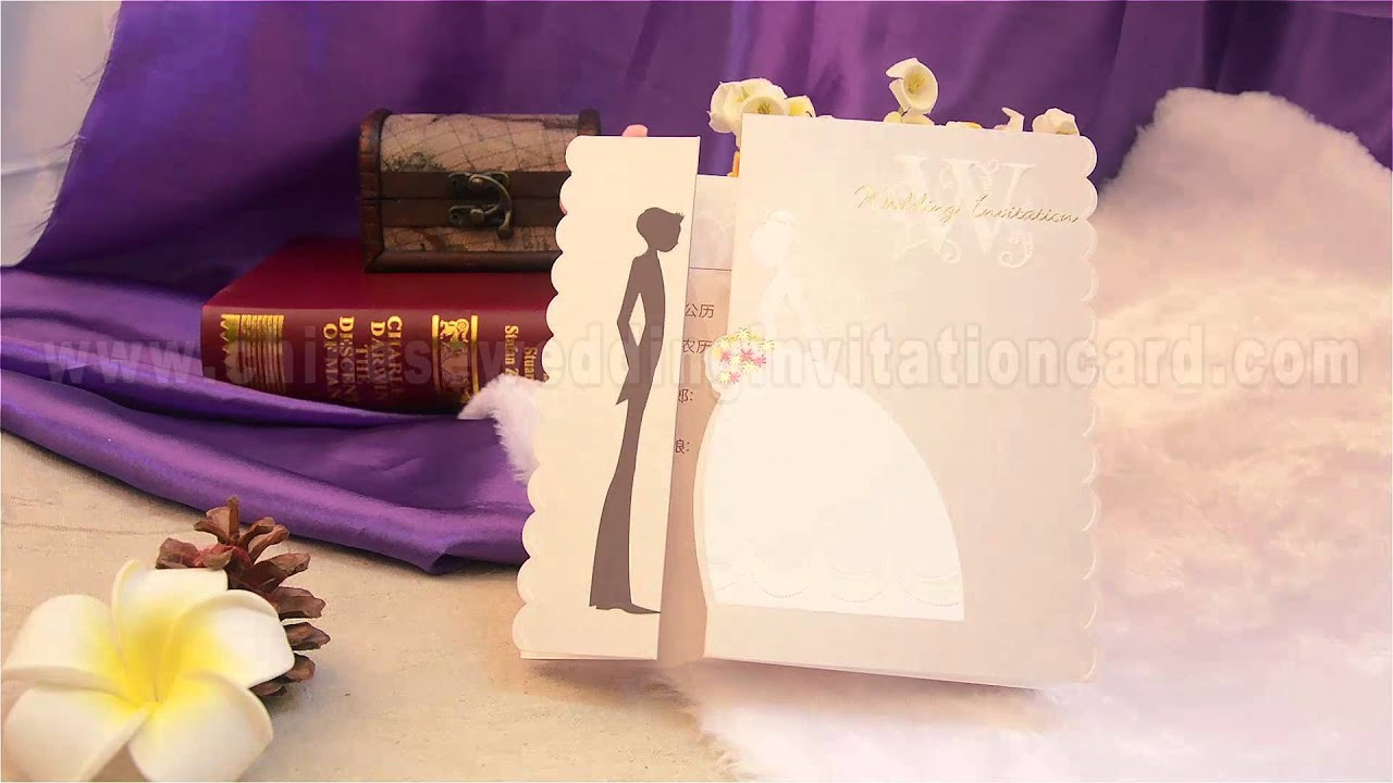 The bride and groom wedding invitation card - YouTube