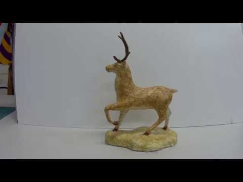 DIY: how to make a paper mache deer (sculpture) with antlers