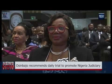 Osinbajo recommends daily trial to Nigeria Judiciary
