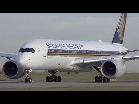 19 Close Up Takeoffs: 777, A350, A380, 787, 757, 767, A321, 737, A320 Manchester Airport