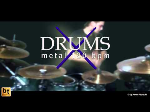 drums only metal 120 bpm