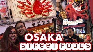 OSAKA JAPAN STREET FOODS TOUR | Dotonbori Food Guide