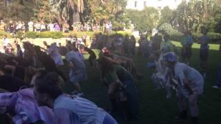Jamie dances Thriller at the Santa Barbara Courthouse Sunken Gardens 2014