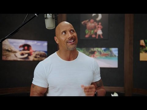 EXCLUSIVE: Watch Dwayne Johnson Record Music With LinManuel Miranda for Moana