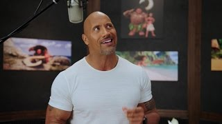 EXCLUSIVE: Watch Dwayne Johnson Record Music With Lin-Manuel Miranda for