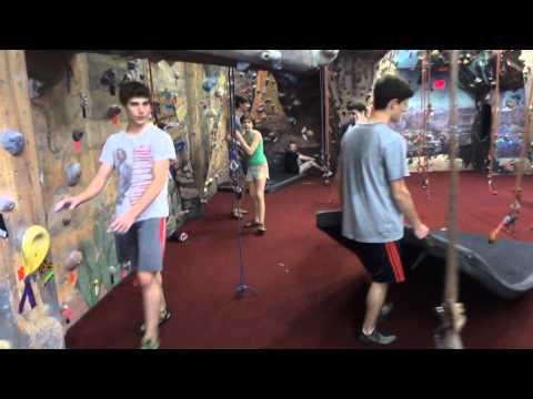 AIR albany indoor rock climbing indoor caving, zip line walkthrough