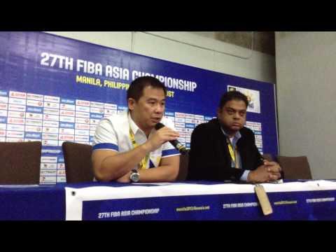 Chot Reyes post-Kazakhstan win 2013 FIBA Asia Part 2
