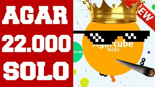 Amazing Agar.io SOLO Gameplay ★★★ 22.000 HIGHSCORE ! ★★★