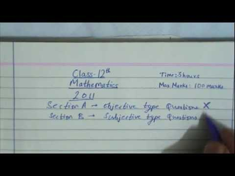 Mp board class 12th mathematics 2011part 0 youtube malvernweather Image collections