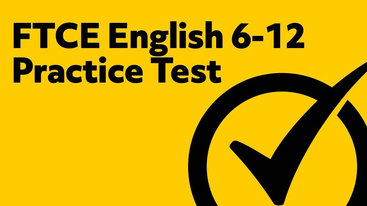english 6 12 practice test